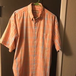 Sun River Shirt Short Sleeve Plaid Size L Large